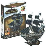 Queen Annes Revenge Pirate Ship 3D Foam Puzzle (155pcs) 3D Jigsaw Puzzle #4005