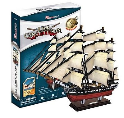 Cubic Fun USS Constitution Sailing Ship 3D Foam Puzzle (193pcs) -- 3D Jigsaw Puzzle -- #4024