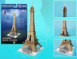Cubic Eiffel Tower (Paris, France) (37pcs) 3D Jigsaw Puzzle #44