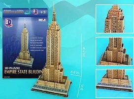 Cubic Empire State Building (New York, USA) (55pcs) 3D Jigsaw Puzzle #48