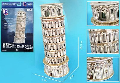 Cubic Fun Leaning Tower of Pisa (Italy) (13pcs) -- 3D Jigsaw Puzzle -- #706