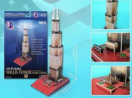 Cubic Willis Tower (Sears Tower, Chicago, USA) (51pcs) 3D Jigsaw Puzzle #83
