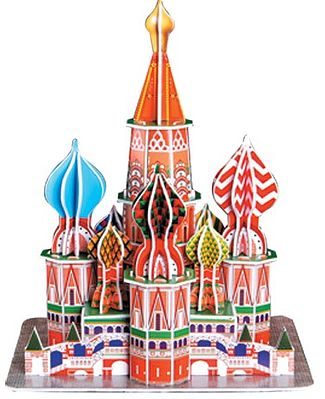 Cubic Fun St. Basil's Cathedral (Moscow, Russia) (173pcs) -- 3D Jigsaw Puzzle -- #93
