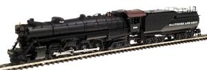 Con-Cor Steam S-2 4-8-4 ''Northern'' with Tender Baltimore & Ohio Cab #1 -- N Scale Model Train -- #1003807