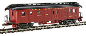 Con-Cor Baggage/Mail Car Pennsylvania RR #87 red HO Scale Model Train Passenger Car #1005713