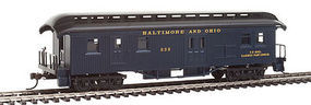Con-Cor Baggage/Mail Baltimore & Ohio #56 blue HO Scale Model Train Passenger Car #1005714