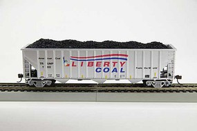 Con-Cor 3-Bay Hopper w/Coal Load - Ready to Run Trump Liberty Coal (silver, red, blue, 100 Days in Office Commemorative) - N-Scale