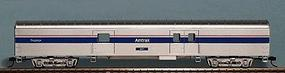 Con-Cor 72 Streamlined Baggage Car Amtrak Phase IV HO Scale Model Passenger Car #10102023