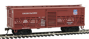 Con-Cor OT Cattle Car Union Pacific HO Scale Model Train Freight Car #1052035