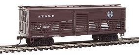 Con-Cor OT Cattle Car ATSF HO Scale Model Train Freight Car #1052038