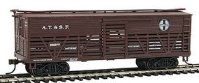 Con-Cor OT Cattle Car ATSF HO Scale Model Train Freight Car #1052098