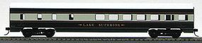 Con-Cor 72 Streamline Diner Burlington Northern Executive Train HO Scale Model Passenger Car #1100013