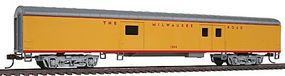 Con-Cor 72 Streamlined Baggage Milwaukee Road HO Scale Model Train Passenger Car #11029