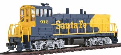 Con-Cor EMD MP15 with DCC Santa Fe #912 -- Model Train Diesel Locomotive -- HO Scale -- #1165501