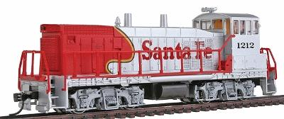 Con-Cor EMD MP15 with DCC Santa Fe #1212 -- Model Train Diesel Locomotive -- HO Scale -- #1166001