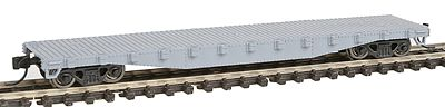 Con-Cor 50' Steel Flat Car Undecorated -- N Scale Model Train Freight Car -- #120100