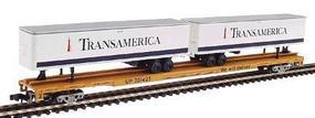 Con-Cor 89 Flat Car with Two 45 Trailers Union Pacific N Scale Model Train Freight Car #120605