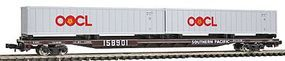 Con-Cor 89 Flat Car Southern Railway with OOLC Containers N Scale Model Train Freight Car #12072