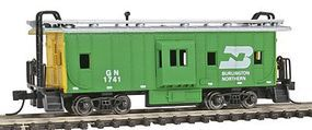 Con-Cor Bay Window Caboose Burlington Northern N Scale Model Train Freight Car #125303
