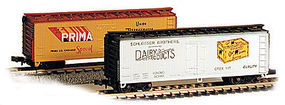 Con-Cor 40 Wood Reefer Prima Beer N Scale Model Train Freight Car #135104