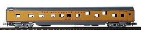 Con-Cor 85 Smooth Side Pullman Milwaukee Road N Scale Model Train Passenger Car #1401125