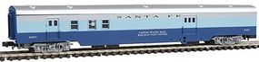 Con-Cor 85 Smooth Side Pass RPO Santa Fe Blue Goose N Scale Model Train Passenger Car #1402210
