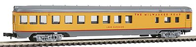 Con-Cor 85' Smoothside Observation Milwaukee -- N Scale Model Train Passenger Car -- #1404125
