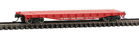 50' Flatcar with Stakes Great Northern N Scale Model Train Freight Car #14096
