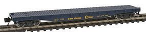 Con-Cor 50 Flatcar with Stakes Chessie System N Scale Model Train Freight Car #14097