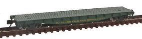 Con-Cor 50 Flatcar with Stakes Chicago & North Western N Scale Model Train Freight Car #14099