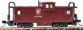 Con-Cor Extended-Vision Caboose Pennsylvania Railroad N Scale Model Train Freight Car #14152