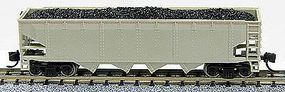 Con-Cor 75-Ton 4-Bay Open Hopper with Load Undecorated N Scale Model Train Freight Car #14480