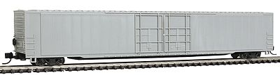 Con-Cor 85' 4-Door Hi-Cube Boxcar Undecorated -- N Scale Model Train Freight Car -- #14660