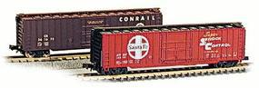 Con-Cor 50 Rib Box Car Conrail N Scale Model Train Freight Car #147102