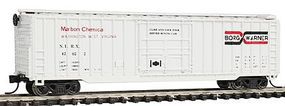 Con-Cor 50 Rib Box Car Borg Warner N Scale Model Train Freight Car #147104