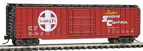 Con-Cor 50 Rib Box Car Santa Fe Shock Control N Scale Model Train Freight Car #147105