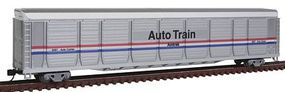 Con-Cor Tri-Level Auto Rack Amtrak #9087 N Scale Model Train Freight Car #14760