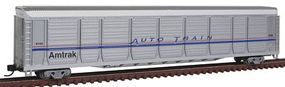 Con-Cor Tri-Level Auto Rack Amtrak #9102 N Scale Model Train Freight Car #14763
