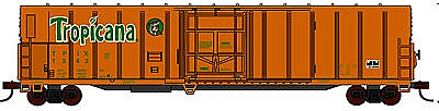 Con-Cor 57' Mechanical Reefer Tropicana Orange Juice #4 -- N Scale Model Train Freight Car -- #14835