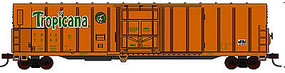 57' Mechanical Reefer Tropicana Orange Juice #4 N Scale Model Train Freight Car #14835