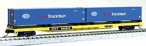 Con-Cor 89' Flatcar with Pacer Stacktrain Containers N Scale Model Train Freight Car #14881