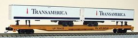Con-Cor 89 Union Pacific Flatcar with 2 Transamerica Trailers N Scale Model Freight Car #14892