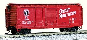 40' Double Door Plywood Box Car Great Northern N Scale Model Train Freight Car #15062