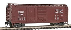Con-Cor 40 Double Door Plywood Box Car Norfolk & Western N Scale Model Train Freight Car #15065