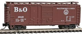 Con-Cor 40 Single Plug-Door Box Car Baltimore & Ohio N Scale Model Train Freigt Car #15067