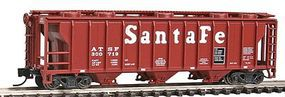 Con-Cor 40 Covered Hopper Santa Fe N Scale Model Train Freight Car #15091