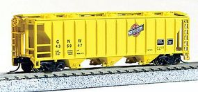 Con-Cor 40 Covered Hopper Chicago & North Western N Scale Model Train Freight Car #15092