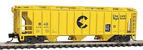 Con-Cor 40 Covered Hopper Chessie N Scale Model Train Freight Car #15093
