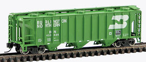 Con-Cor 40 Covered hopper Burlington Northern N Scale Model Train Freight Car #15094