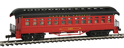 Con-Cor Open Platform Coach Canadian Pacific #134 -- HO Scale Model Train Passenger Car -- #15609